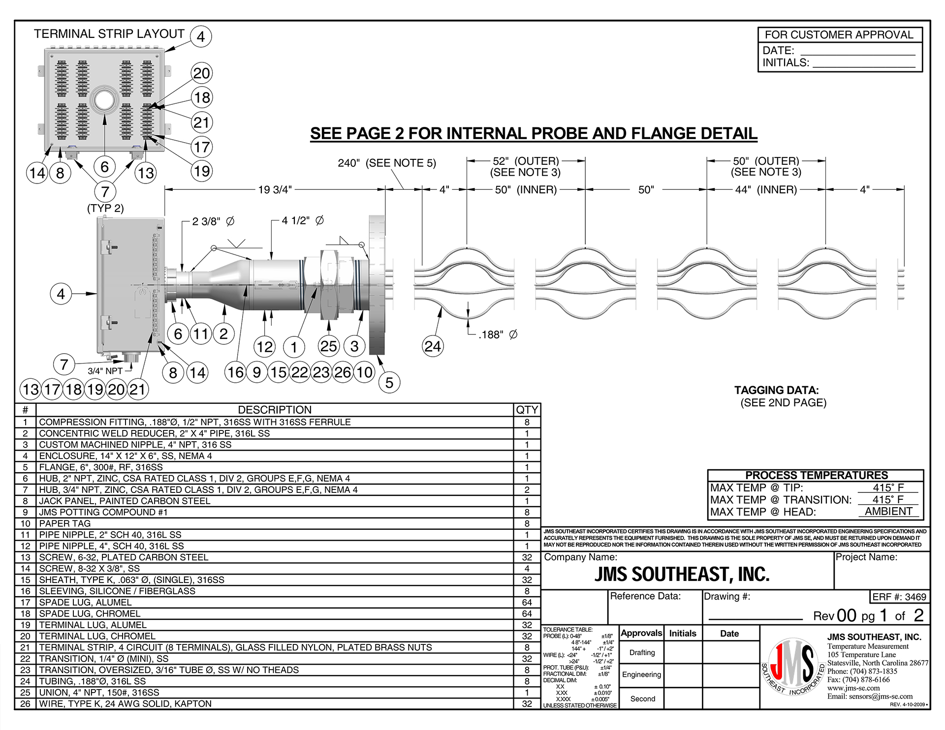 Drafting Manufacturing Custom Thermocouple Rtd Products
